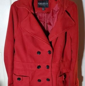 Forever 21 double breasted coat, mid weight